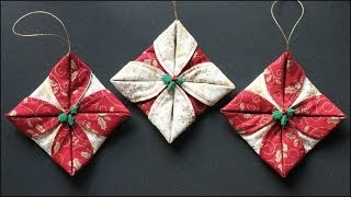 getlinkyoutube.com-Folded Fabric Ornaments