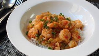 getlinkyoutube.com-Shrimp Etouffee Recipe - Spicy Creole/Cajun Shrimp Sauce on Rice - Frozen Shrimp Tips