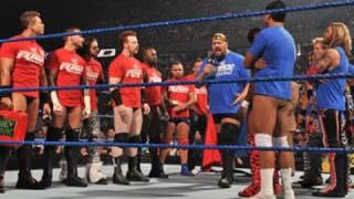 SmackDown: Six-Man SmackDown vs. Raw Tag Team Match