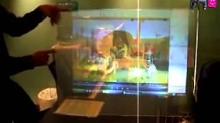 getlinkyoutube.com-شاشة عرض شفافة وملونه لاجهزة البروجكتر للطلب 0543711852