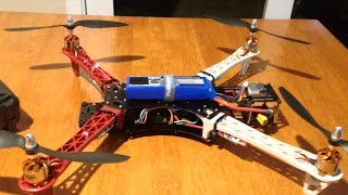getlinkyoutube.com-Reptile 500 550 Quadcopter - Build overview and first flight. Ready for FPV.