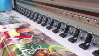 getlinkyoutube.com-8 konica 1024 42pl solvent printer printing video ,YSL-X8 ,YASELAN