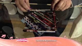 getlinkyoutube.com-Aprenda reciclar fazendo uma luminária feita de papel de revista!
