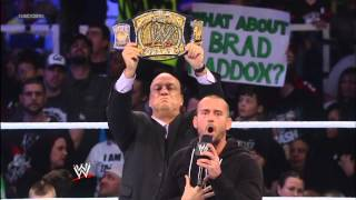 getlinkyoutube.com-CM Punk and The Rock respond to The Shield's attack on The Great One: SmackDown, Jan. 25, 2013: