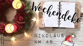 getlinkyoutube.com-Filofax Wochendeko KW 49 Nikolaus is coming to town | plan with me | deutsch | filolove_