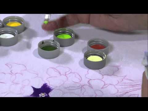 Mulher.com 25/04/2013 Fátima Hespanholeto - Pintura em tecido camiseta Parte 1