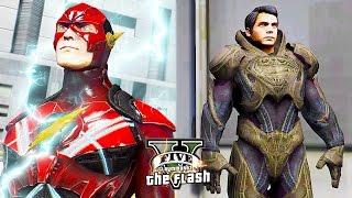 getlinkyoutube.com-GTA 5 PC - Justice League Flash VS Alien-Superman ! (Ultimate Flash Mod Gameplay)🏃🏽⚡️