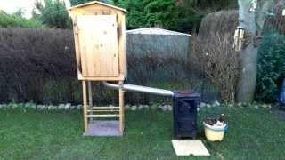 getlinkyoutube.com-Wędzarnia przenośna drewniana z piecykiem - koza