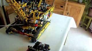 getlinkyoutube.com-LEGO TECHNIC BIG CRANE MASSIVE CRAWLER DRAGLINE  8043 8053 8297 ...
