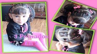getlinkyoutube.com-Tres Peinados Para Nina En Uno Super Faciles