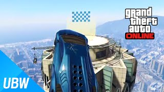getlinkyoutube.com-GTA 5 작업 탐방: 가장 높은 빌딩의 옥상으로 올라가야 한다 Maze Building Mega Jump [GTA 5 Fun Jobs]
