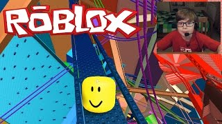 getlinkyoutube.com-I AM A MARBLE!! ROBLOX Mega Marble Run Pit | Kid Gaming