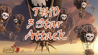 getlinkyoutube.com-Clash of Clans Th10 3 Star Lavaloon Attack Strategy