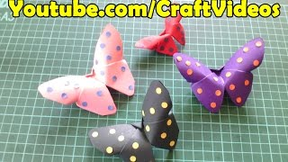 getlinkyoutube.com-Easy Origami Butterfly |Paper Butterfly step by step tutorial
