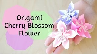 getlinkyoutube.com-How to Make Origami Cherry Blossom Flower