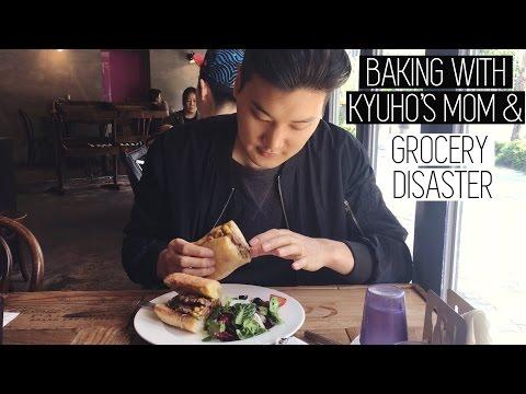 Baking w/ Kyuho's Mom & Grocery Disaster (자막)국제커플 브이로그 어머니와 베이킹 배워보기