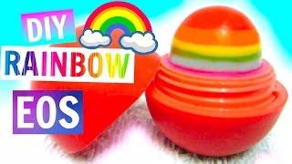 getlinkyoutube.com-DIY Rainbow EOS | How to Make EOS Lip Balm