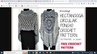 diy, CROCHET A CIRCULAR PONCHO, MANDALA CAPE, ASYMMETRICAL SHAWL, pattern  #1128yt