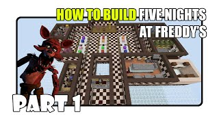 getlinkyoutube.com-How To Build Five Nights at Freddy's Map in Minecraft - Part 1 (Fnaf 1 Map)