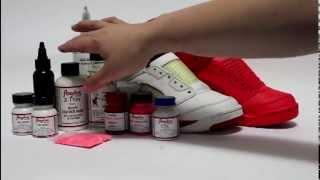 getlinkyoutube.com-How to paint Solar Red - Red October Jordan 5 KOS Kinofsneakers.com