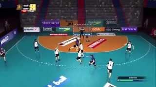 getlinkyoutube.com-Handball 16 (PS3) - first 30 minutes of gameplay, career, local play, season (no commentary)