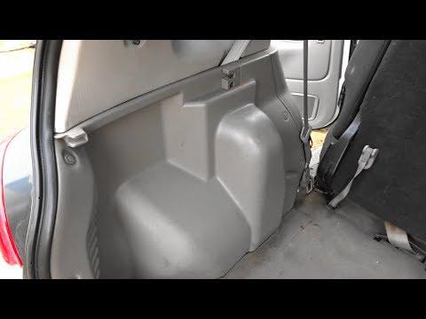 Шумоизоляция арок изнутри салона на Mazda Demio. Часть 1