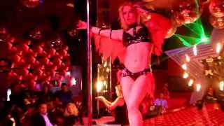 getlinkyoutube.com-Anastasia Sokolova - Perform Pole Dance In A Cabaret Show