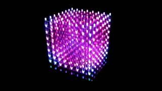 getlinkyoutube.com-My Music Cube ( 3D RGB color LED Cube 8x8x8 )