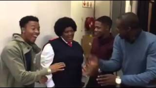 Skeem saam behind the scenes: I'm in love with the Gogo.