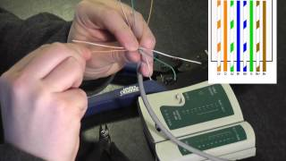 How to wire a RJ45 Plug onto Cat5 Cable (HD) - YouTube