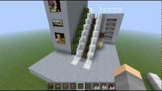 getlinkyoutube.com-Minecraft Redstone Escalator