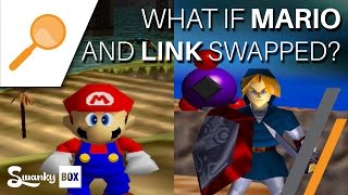 getlinkyoutube.com-Nintendo 64 - What if Mario and Link Swapped? | SwankyBox