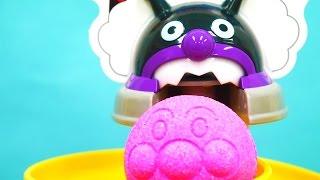 アンパンマンおもちゃアニメ お風呂あそび NEWスプラッシュおふろスライダーとびっくらたまごであそぼう! Anpanman Toys