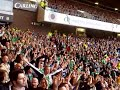 Hibs fans signing lets all do the hibees bounce at ibrox