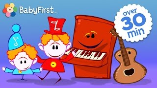 getlinkyoutube.com-Musical Instruments for Kids | Drum, Piano, Guitar and More with the Notekins by BabyFirst