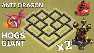getlinkyoutube.com-Clash of Clans | Town Hall 6 War Base | TH6 War Base with 2 air defense