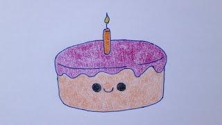 getlinkyoutube.com-Como desenhar um bolo de aniversário