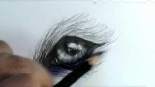 getlinkyoutube.com-How to draw a wolf eye