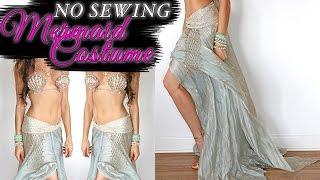 getlinkyoutube.com-DIY MERMAID COSTUME-NO SEWING!