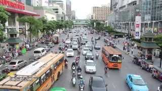2015 New Bangkok city Road in Thailand - HD