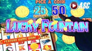 getlinkyoutube.com-LUCKY FOUNTAIN | Konami 100+ Spins! BIG Win! Slot Machine Bonus