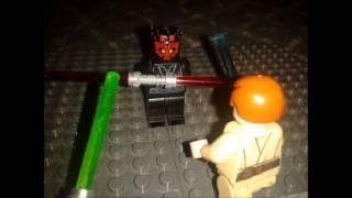 getlinkyoutube.com-Lego Star Wars Qui Gon Jinn and Obi Wan VS Darth Maul part1
