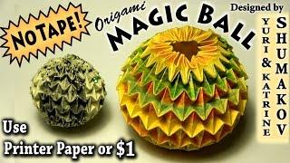 getlinkyoutube.com-Origami Magic Ball - NO TAPE!!!