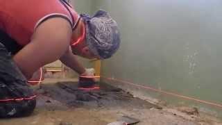 как выложить плитку на пол ровно легкий способ