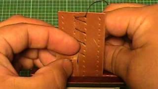 getlinkyoutube.com-【革の縫い方っ!5】:『クロス・ステッチ-②(cross‐stitch-2)』 レザークラフト動画<012>