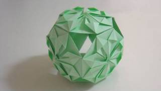 getlinkyoutube.com-Origami Traditional Kusudama