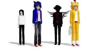 getlinkyoutube.com-[MMD/MEME] - CreepyPasta - Everybody do the flop