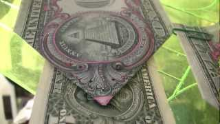 $1DOLLAR BILL SECRET Fazi-Gami Origami Yale SKULL &BONES 322 & $10,000 says UCant Prove Me Wrong