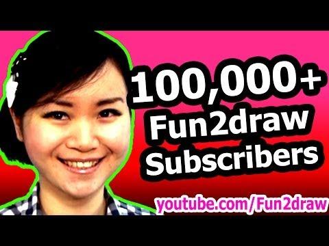 100,000+ Fun2draw Subscribers!
