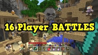 Minecraft Xbox One / PS4 - 16 PLAYERS Battle Mode LIVE
